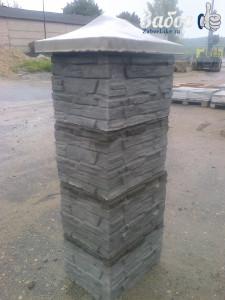 Столб из бетона для забора