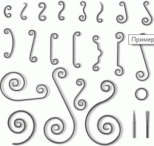 Пример кованых фигур