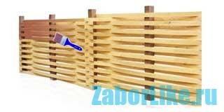 Плетеный забор из досок своими руками