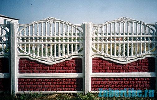забор декоративный бетон
