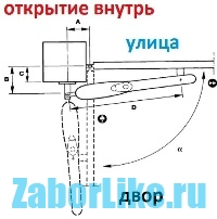 Распашные ворота механизм открывания своими руками 103