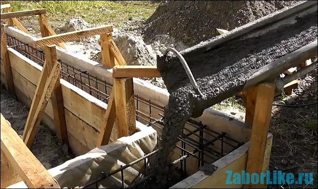 Заливка фундамента своими руками бетономешалкой видео