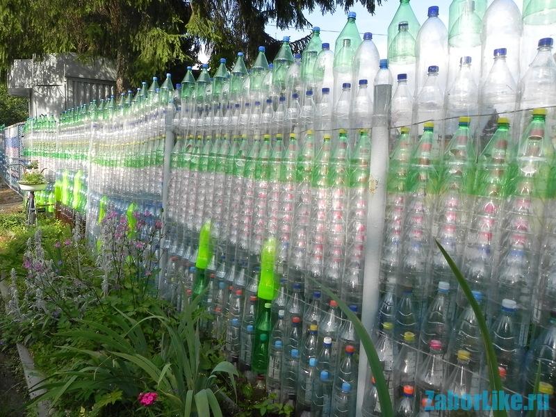 Забор-из-пластиковых-бутылок