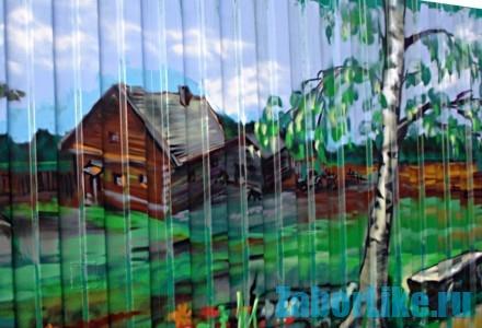рисунки на заборе на даче своими руками фото